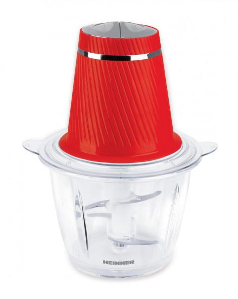 Tocator Heinner HMC-300RD, 300W, 2 cutite inox, bol sticla 1.2 L, 2 Viteze, Rosu 0