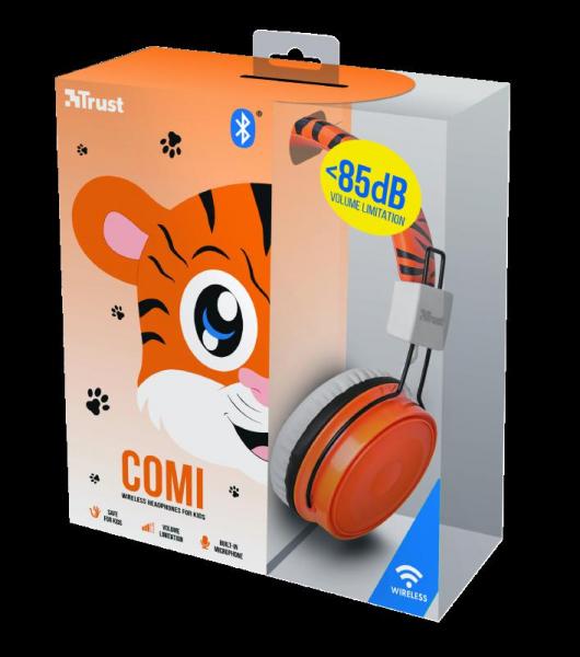 Trust Comi BT Kids Headphones - Orange 5