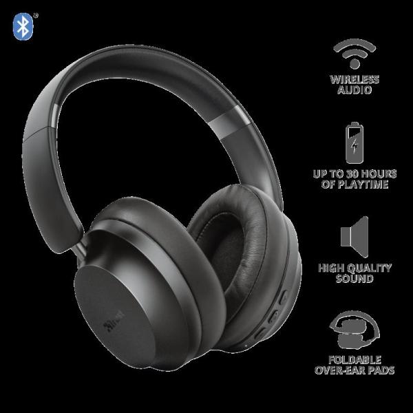 Trust Eaze Wireless Over-ear Headphones 2