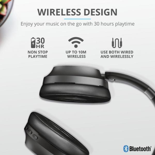 Trust Eaze Wireless Over-ear Headphones 4