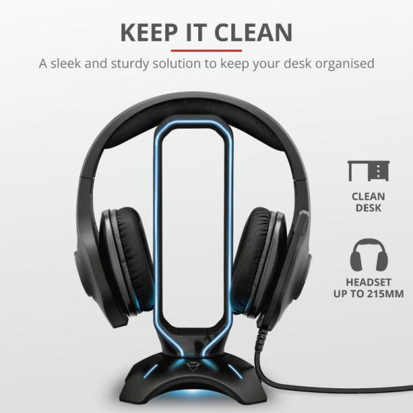 Trust GXT 265 Cintar RGB Headset Stand 5