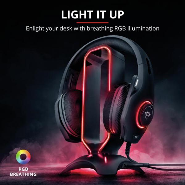 Trust GXT 265 Cintar RGB Headset Stand 2