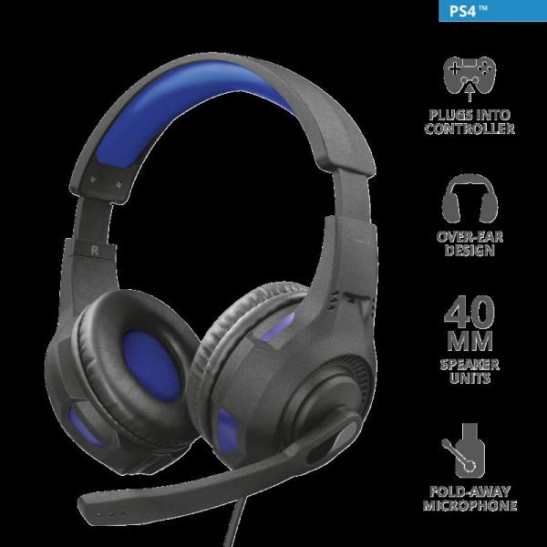 Trust GXT 307B Ravu Gaming Headset PS4 0