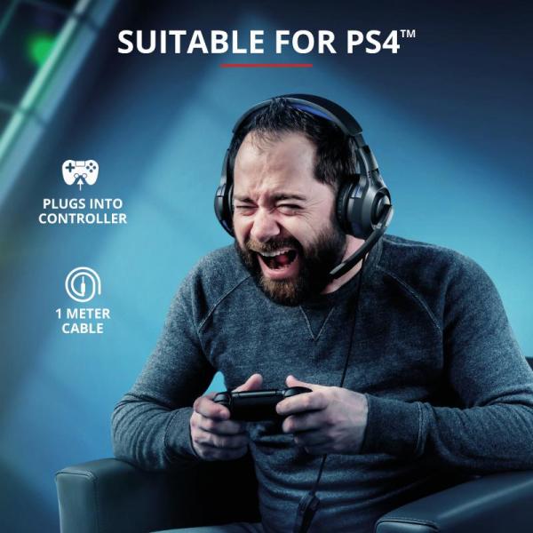 Trust GXT 307B Ravu Gaming Headset PS4 7