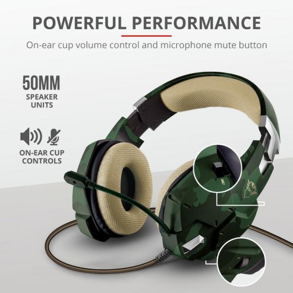 Casti Gaming Trust GXT 322C Carus, Microfon, Jack 3.5mm (Verde) 7