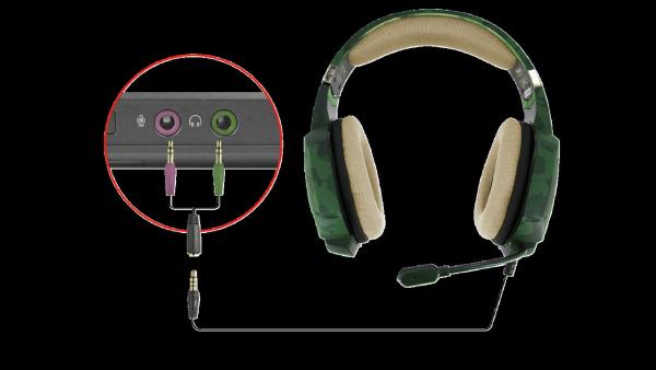 Casti Gaming Trust GXT 322C Carus, Microfon, Jack 3.5mm (Verde) 5