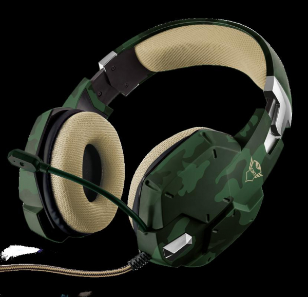 Casti Gaming Trust GXT 322C Carus, Microfon, Jack 3.5mm (Verde) 0