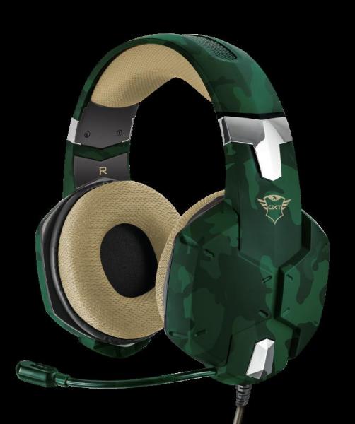 Casti Gaming Trust GXT 322C Carus, Microfon, Jack 3.5mm (Verde) 1
