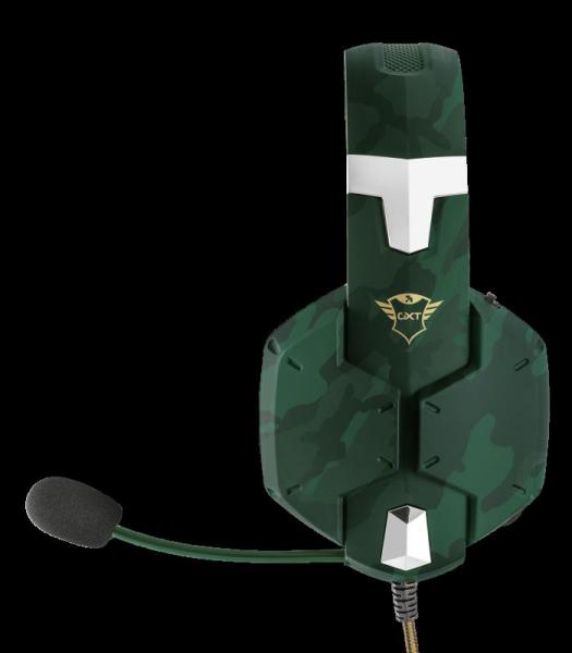 Casti Gaming Trust GXT 322C Carus, Microfon, Jack 3.5mm (Verde) 3