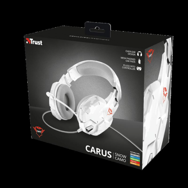 Casti gaming Trust GXT 322W, White camouflage 10