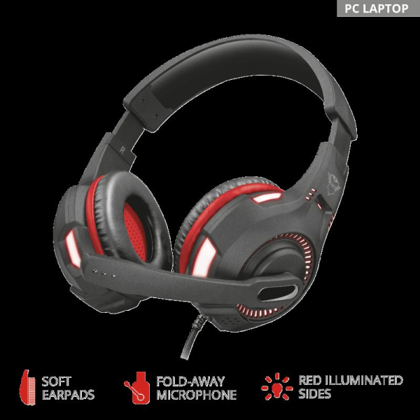 Trust GXT 407 Ravu Illuminated Headset 1