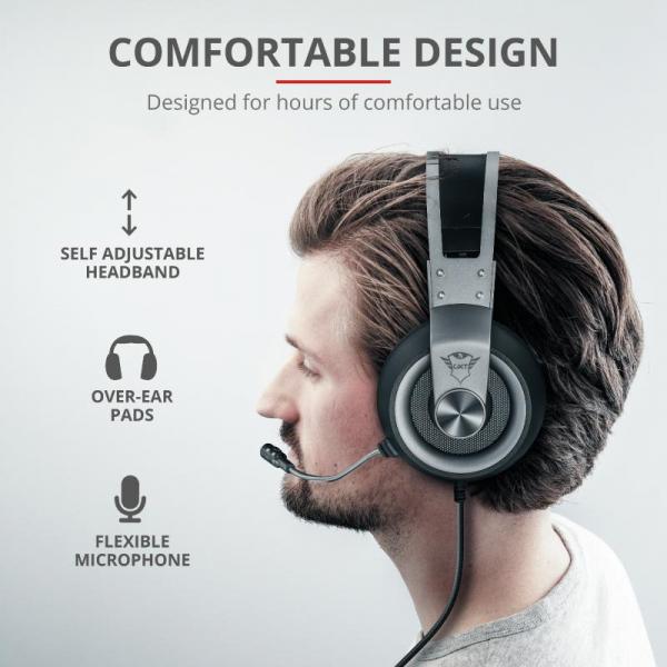 Trust GXT 430 Ironn Gaming Headset 6