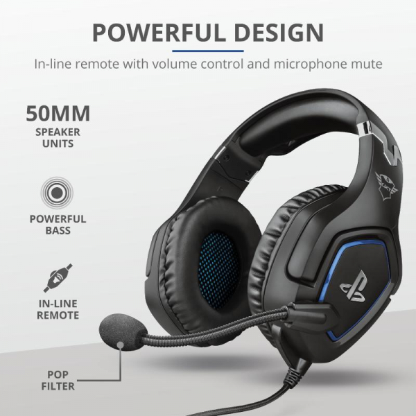 Trust GXT 488 Forze PS4 Gaming Headset 1