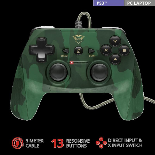Trust GXT 540C Yula Wired Gamepad camo 1