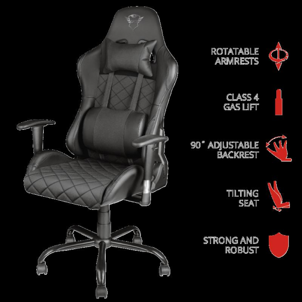 Trust GXT 707 Resto Gaming Chair - black 0