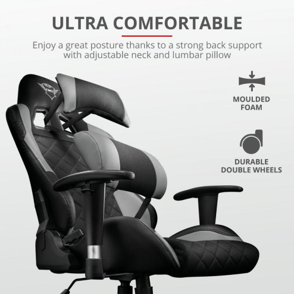 Trust GXT 707G Resto Gaming Chair - grey 2