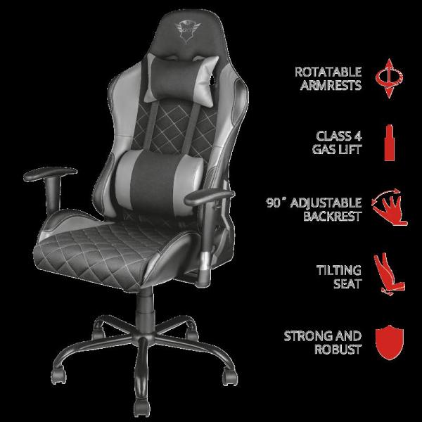 Trust GXT 707G Resto Gaming Chair - grey 0
