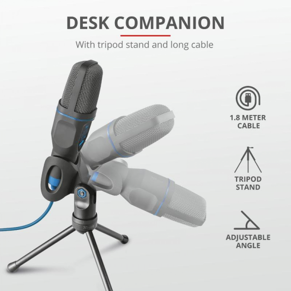 Trust Mico USB Microphone for PC/laptop 4