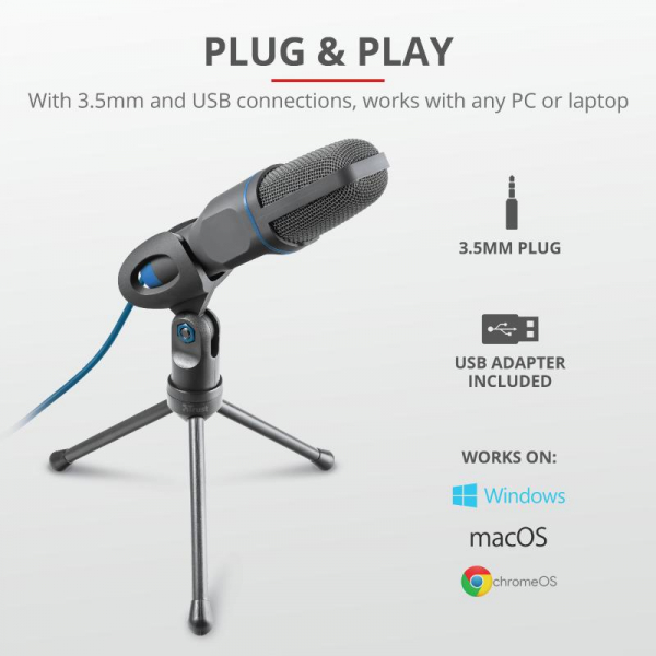 Trust Mico USB Microphone for PC/laptop 2