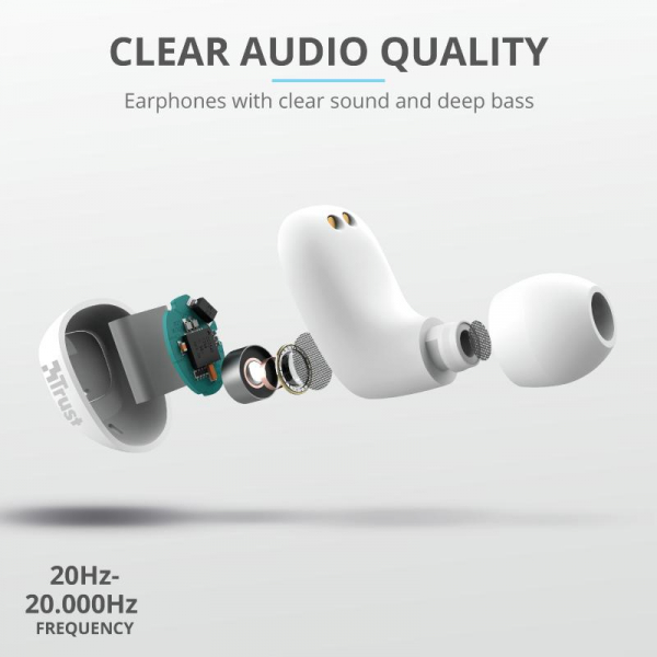 Trust Nika TWS Bluetooth Earphones White 10