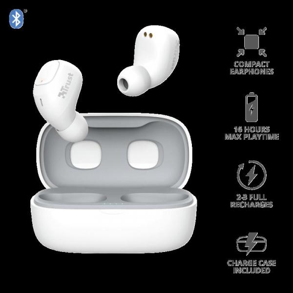 Trust Nika TWS Bluetooth Earphones White 2