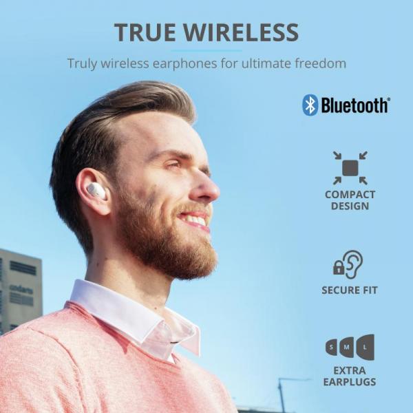 Trust Nika TWS Bluetooth Earphones White 12
