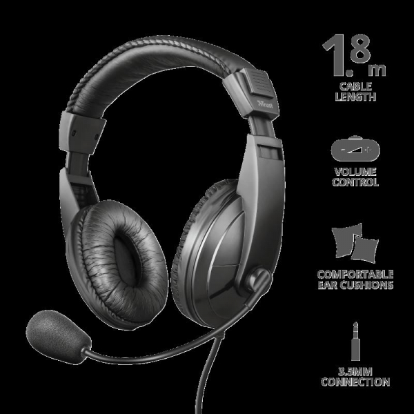 Trust Quasar Headset for PC and laptop 0