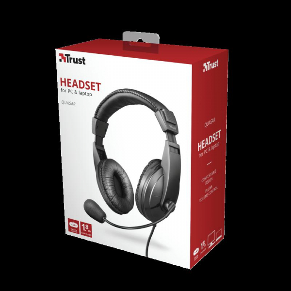 Trust Quasar Headset for PC and laptop 8