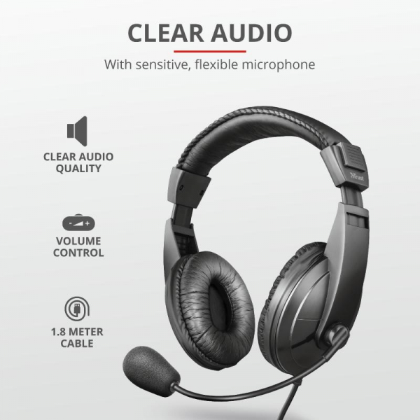 Trust Quasar Headset for PC and laptop 6