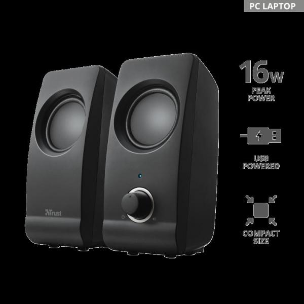Boxe Stereo Trust Remo 2.0 Speaker Set TR-17595 1