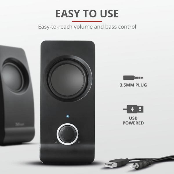 Boxe Stereo Trust Remo 2.0 Speaker Set TR-17595 5