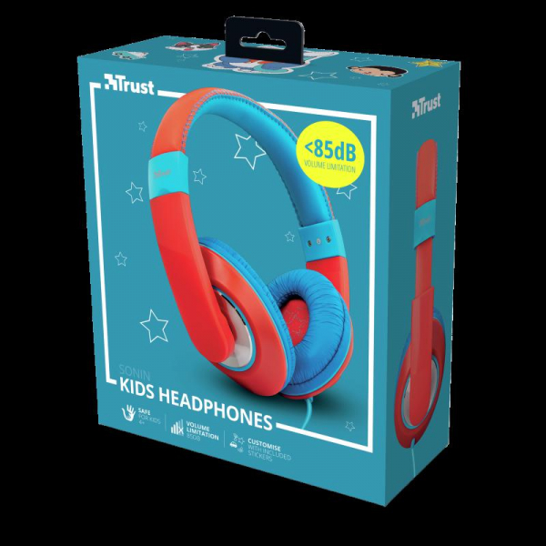 Trust Sonin Kids Headphones - red 6
