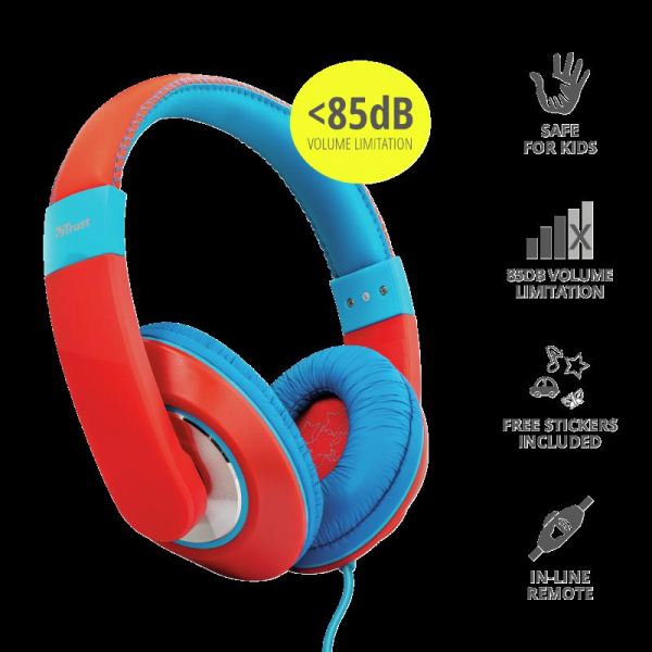 Trust Sonin Kids Headphones - red 2