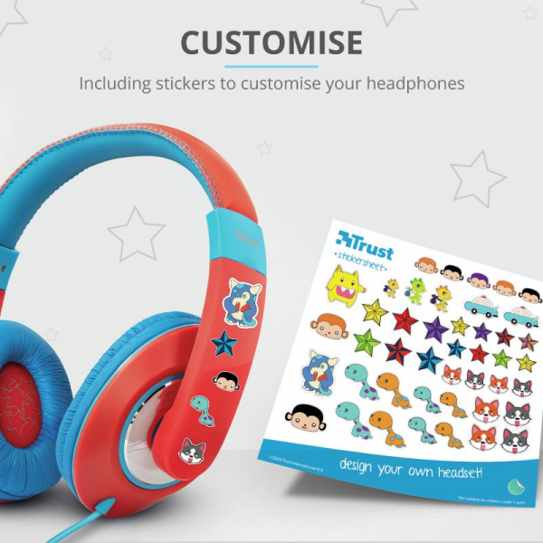 Trust Sonin Kids Headphones - red 4