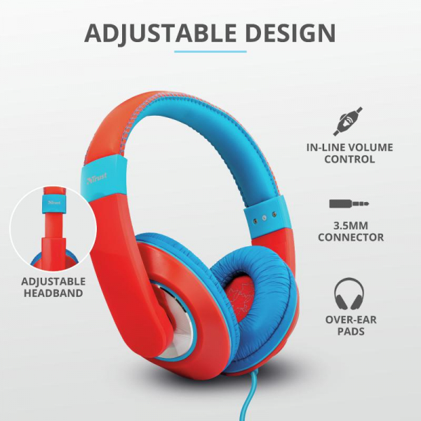 Trust Sonin Kids Headphones - red 3
