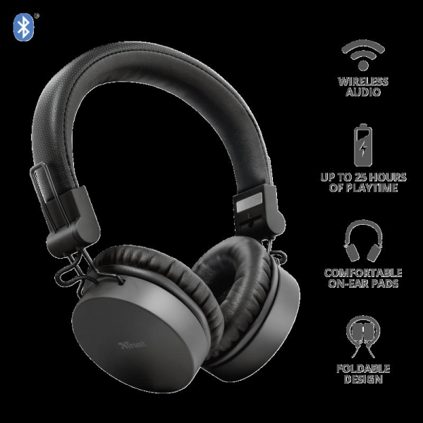 Trust Tones Bluetooth Wireless Headphone 1