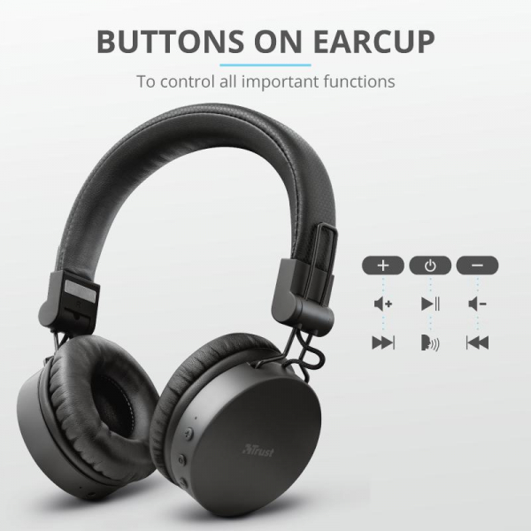 Trust Tones Bluetooth Wireless Headphone 5