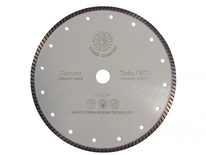 Tudee 115x22.2mm, Disc diamantat debitare beton dur 0