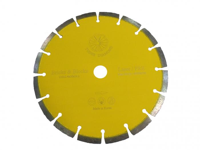 Tudee 115x22.2mm, Disc diamantat debitare materiale de constructii 0