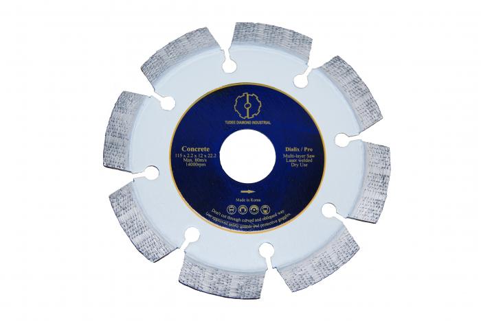 Tudee 125x22.2mm, Disc diamantat debitare beton dur 0