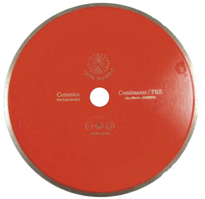 Tudee 230x22.2mm, Disc diamantat debitare placi ceramice 0