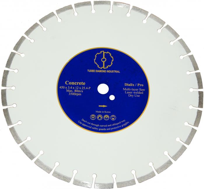 Tudee 350x25.4mm, Disc diamantat debitare beton dur 0