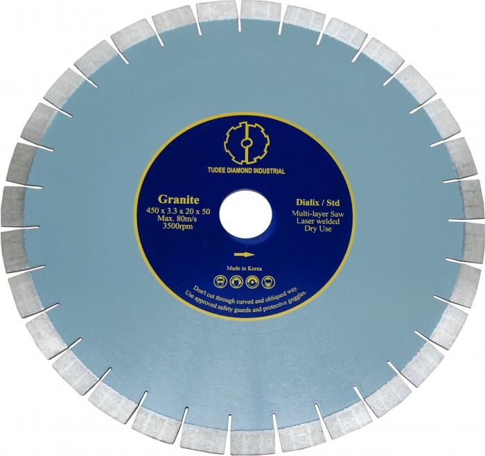 Tudee 400x50x12mm, Disc diamantat debitare granit, Dialix, standard [0]