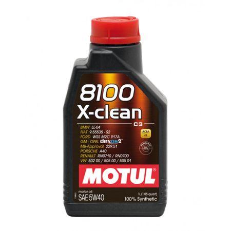 Ulei motor Motul 8100 X-clean, 5W40, 2L [0]