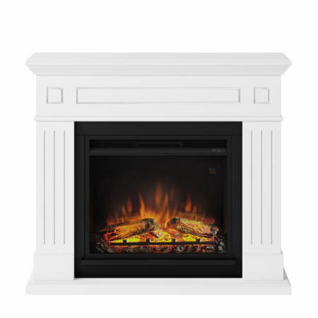Semineu TAGU Larsen Pure White cu Focar Electric PowerFlame, 23 inch, FM462-WH1 + 23PF1A0