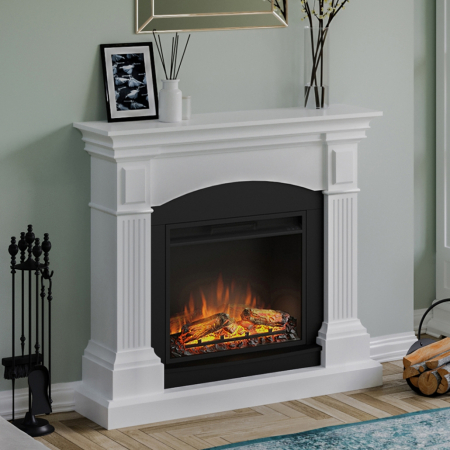 Semineu TAGU Magna Pure White cu Focar Electric PowerFlame, 23 inch, FM464-WH1 + 23PF1A3