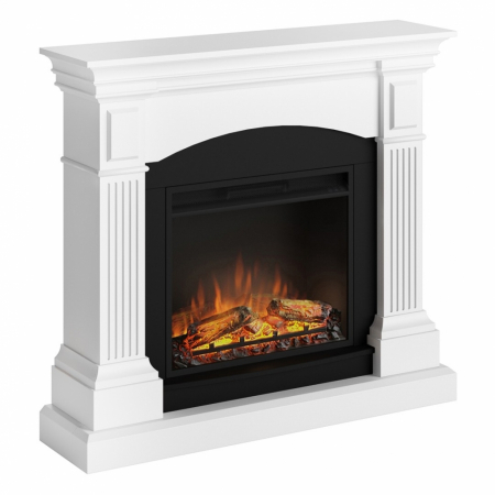 Semineu TAGU Magna Pure White cu Focar Electric PowerFlame, 23 inch, FM464-WH1 + 23PF1A4