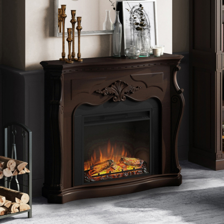 Semineu TAGU Gala Royal Walnut cu Focar Electric PowerFlame, 23 inch, FM465-WA2 + 23PF1A1