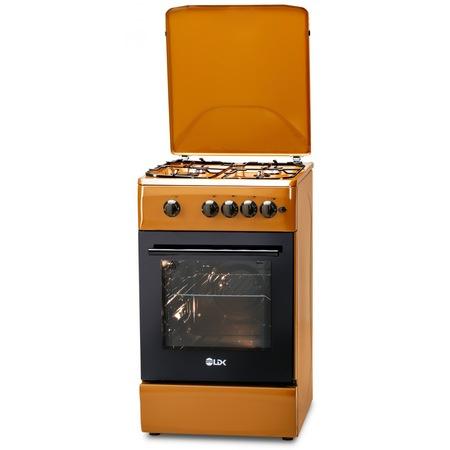 Aragaz LDK 5060 A Light Brown RMV, 4 Arzatoare, Capac metalic, Siguranta, Aprindere electrica, 50x60 cm, Maro [1]