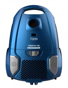 Aspirator cu sac Heinner HVC-MBL1400-V2, 700 W, sac textil, 3 L, putere variabila, HEPA 12, tub telescopic metalic, Albastru0